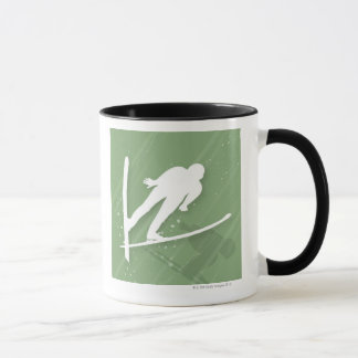 Sauter de ski de deux hommes mug