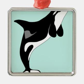 Sauter d'orque ornement carré argenté