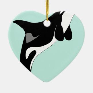 Sauter d'orque ornement cœur en céramique