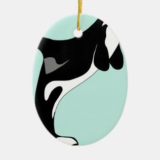 Sauter d'orque ornement ovale en céramique