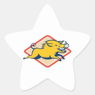 Sauter sauvage de porc de balénoptère stickers en étoile