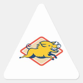 Sauter sauvage de porc de balénoptère autocollant en triangle
