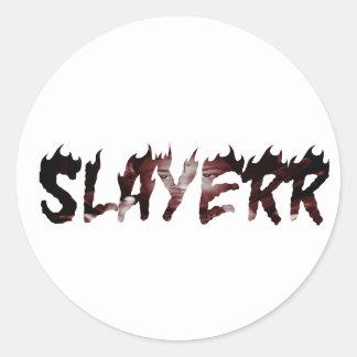 Sauvage de SLAYERR 21 Sticker Rond