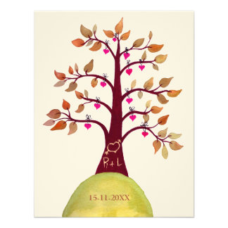 Sauvez l arbre de mariage de automne de date décou