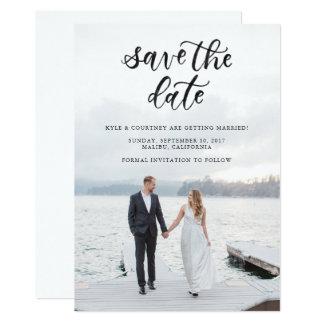 Sauvez la carte de calligraphie de date carton d'invitation  12,7 cm x 17,78 cm