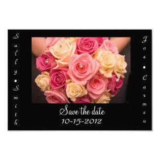 Sauvez la carte de date carton d'invitation 8,89 cm x 12,70 cm