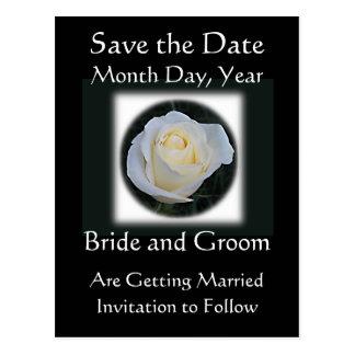Sauvez la carte de date - épouser noir et blanc carte postale