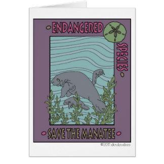 Sauvez la carte de note de lamantin