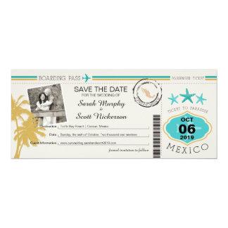 Sauvez la carte d'embarquement de date au Mexique