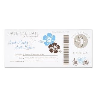 Sauvez la carte d'embarquement de date carton d'invitation  10,16 cm x 23,49 cm