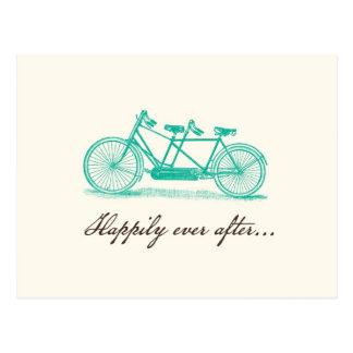 Sauvez la carte postale Date-Tandem de vélo