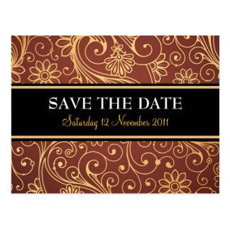 Sauvez la carte postale de batik de date