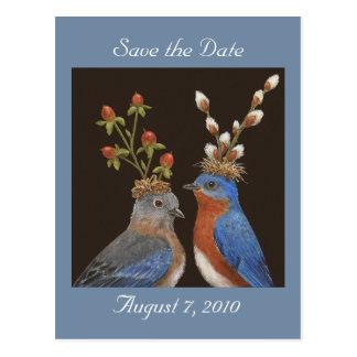 Sauvez la carte postale de date avec des couples