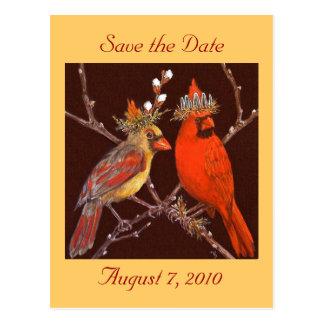 Sauvez la carte postale de date avec les couples