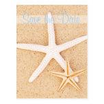 Sauvez la carte postale d'étoiles de mer de jumeau