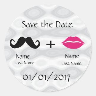 Sauvez la coutume d'autocollant de date sticker rond