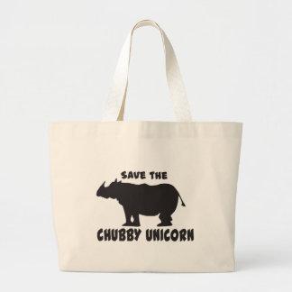 Sauvez la licorne potelée grand tote bag