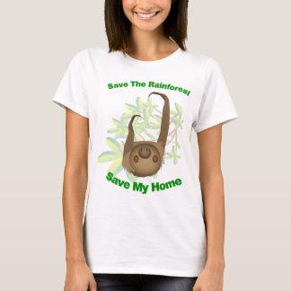 Sauvez la paresse de forêt tropicale t-shirt