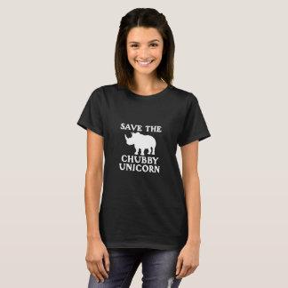 Sauvez la petite défense potelée de rhinocéros de t-shirt