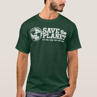 sauvez la planète - elle est la seule avec de la t-shirt