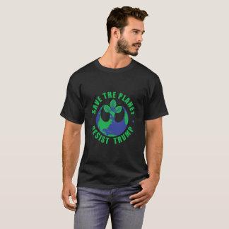 Sauvez la planète résistent à l'atout t-shirt