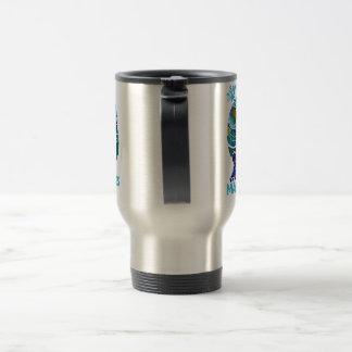 Sauvez la tasse bleue de voyage de lamantins
