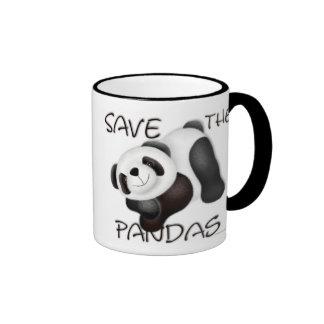 Sauvez la tasse de pandas