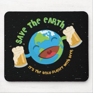 Sauvez la terre tapis de souris