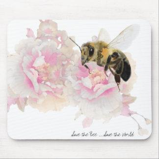 Sauvez l'abeille ! Sauvez le monde ! Jolie abeille Tapis De Souris