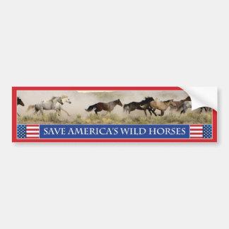 Sauvez l'adhésif pour pare-chocs 1 des chevaux sau autocollant de voiture