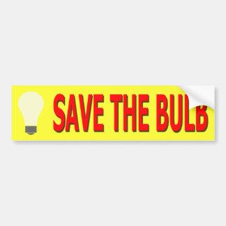 Sauvez l'adhésif pour pare-chocs d'ampoule (le autocollant pour voiture
