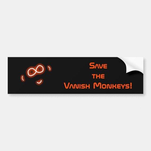 Sauvez l'adhésif pour pare-chocs de singes de disp adhésifs pour voiture