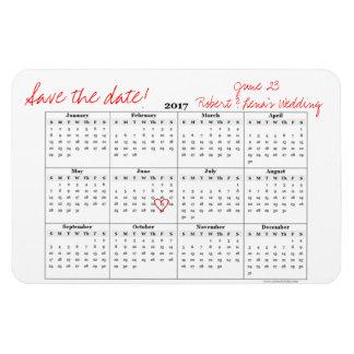 Sauvez l'aimant annuel de calendrier personnalisé magnet flexible