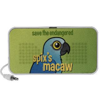 Sauvez l'ara du Spix mis en danger Haut-parleurs iPod