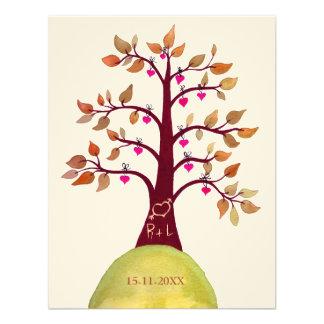 Sauvez l'arbre de mariage de automne de date décou invitations personnalisables