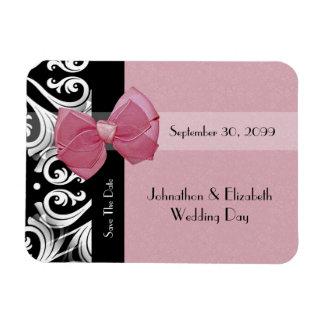 Sauvez l'arc parisien de rose de mariage de date magnets rectangulaires