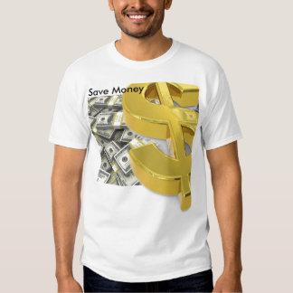 Sauvez l'argent liquide d'argent t-shirts