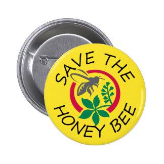 Sauvez le bouton d'abeille de miel pin's