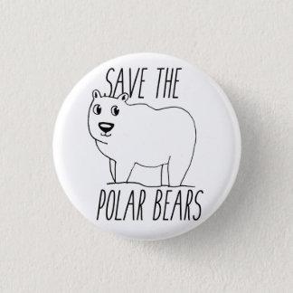 Sauvez le bouton d'ours blancs badges