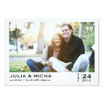 Sauvez le carte photo de cadre dirigé par date carton d'invitation  12,7 cm x 17,78 cm