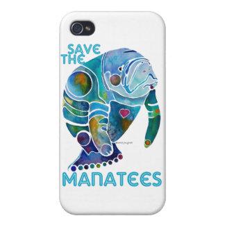 Sauvez le cas de l'iPhone 4 de lamantins Coques iPhone 4/4S