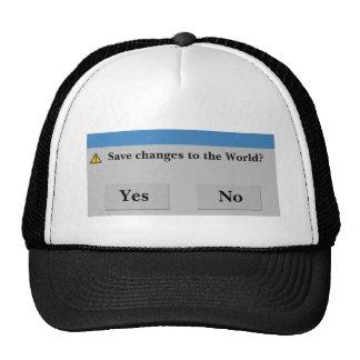 Sauvez le chapeau du monde casquette
