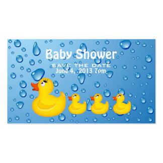 Sauvez le jaune Duckie de baby shower de date Carte De Visite Standard