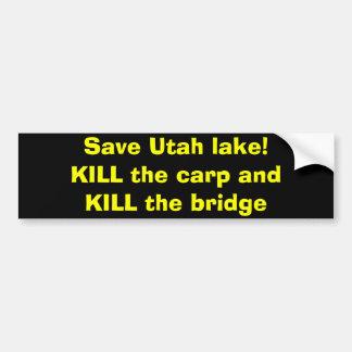Sauvez le lac utah ! autocollant pour voiture