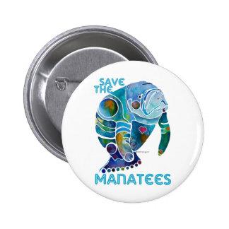 Sauvez le lamantin badge rond 5 cm