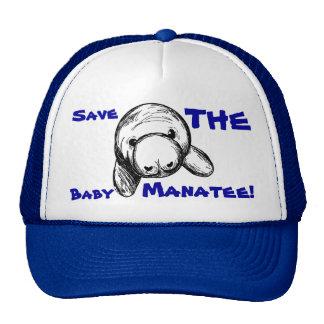 Sauvez le lamantin de bébé ! casquette de camionneur