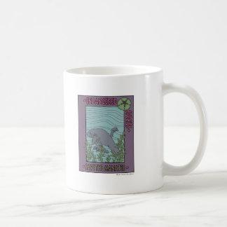 Sauvez le lamantin mug blanc