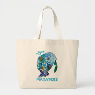 Sauvez le lamantin sac en toile jumbo