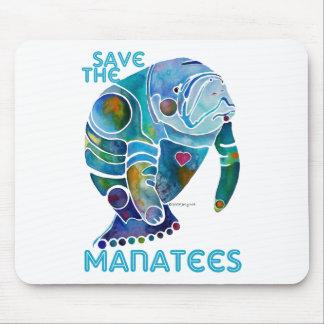 Sauvez le lamantin tapis de souris