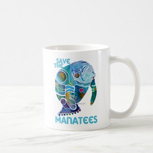 Sauvez le lamantin tasse à café
